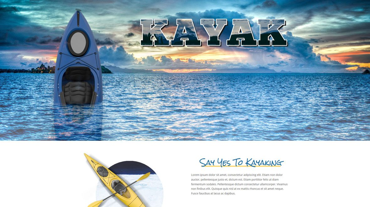 Divi Layout for Kayak